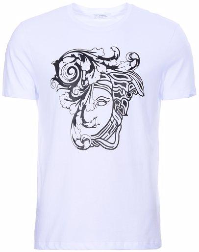 www.singsale.com.sg — Versace Collection Medusa Large Logo Print T-Shirt  White fd6d10cf3a0