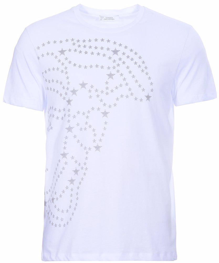 521a0523 MYSALE | Versace Collection Medusa Large Star Logo Print T-Shirt White