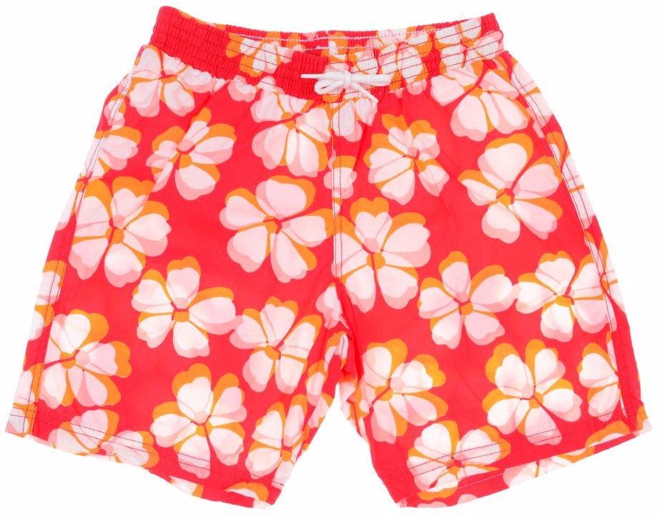 db7417c06c Boys Flower Print Shorts Red & White