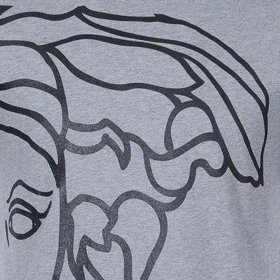 www.singsale.com.sg — Versace Collection Medusa Large Logo Side Print T-Shirt  Grey 3649f1ac95e
