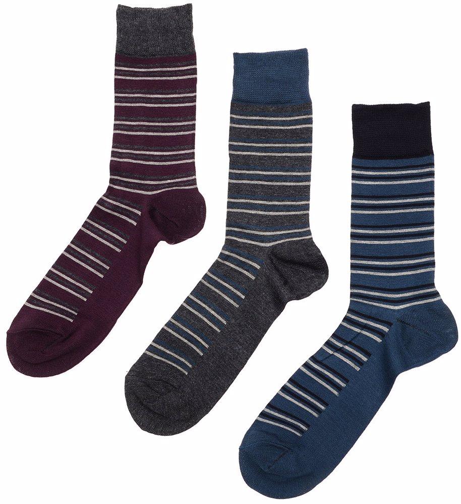 8bacc3e6ea887 BuyInvite   Green Treat 3 Pack Socks Grey Charcoal Stripe