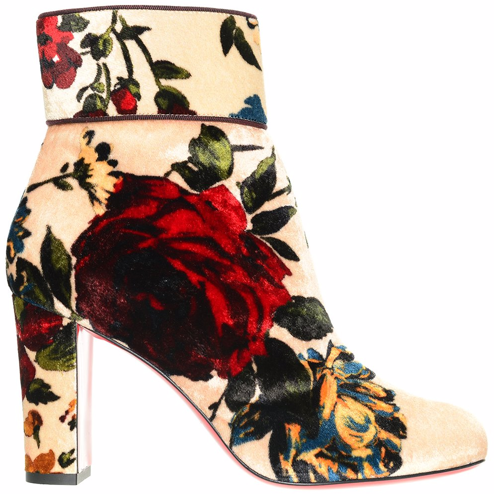 watch 8b082 f2ca4 OZSALE | Christian Louboutin Velvet Moulamax 85 Ankle Boot Pink