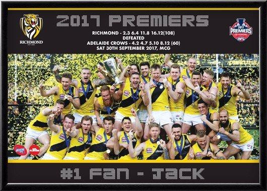 2017 Premiers Richmond Tigers Sports Print A3 Framed