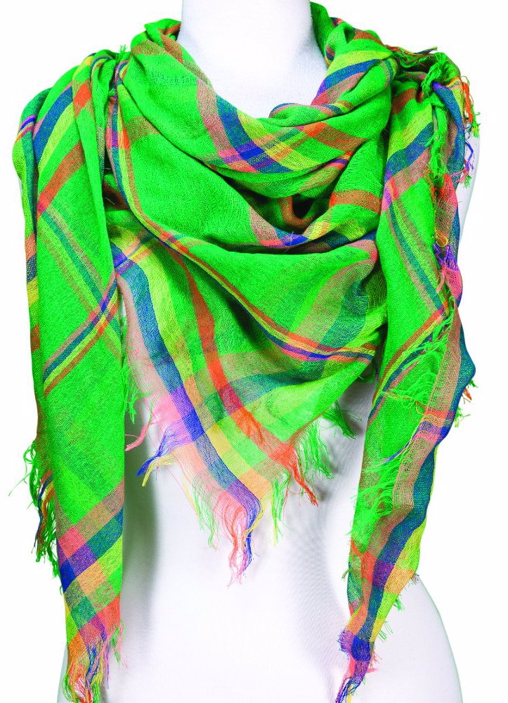 da0aabac8ff4f DealsDirect | Tickled Pink Vibrant Blanket Plaid Scarf - Green