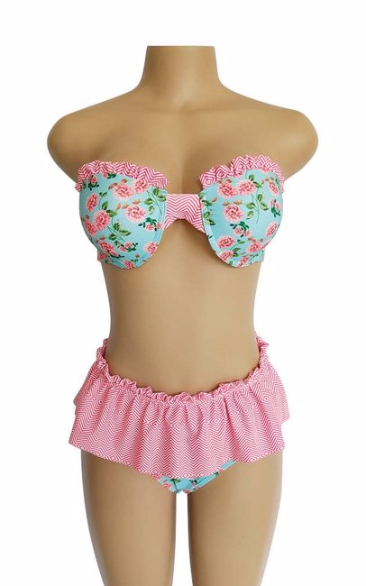 d4820987a BuyInvite | Water World & Plus Size Swim Pink Two piece set