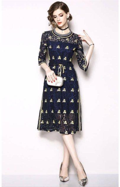 25c819c1b9e1 BuyInvite | The Elegant Closet Blue Midi Dress