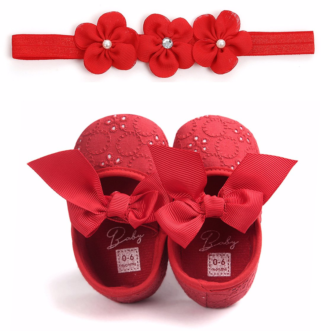 2eb8265d5914e Red Set ( Baby Shoe+Hairband)