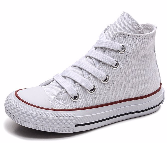 c0a2153eabfc3 White Kid's Unisex Canvas Shoe