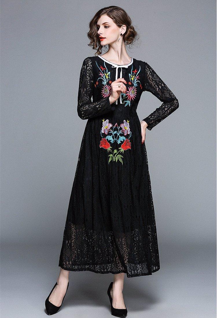 9bf77121f0909 Black Long Sleeve Lace Dress Australia – DACC