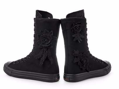 f8d54fe4 BuyInvite | All Seasons Canvas Style Black Women Canvas Boots