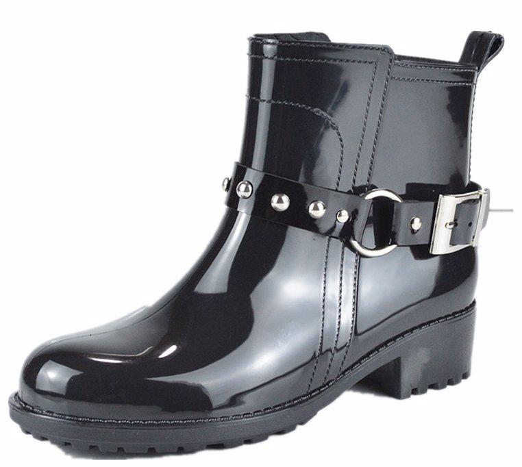 8266f2e37cc Black Womens Jelly Rain boots