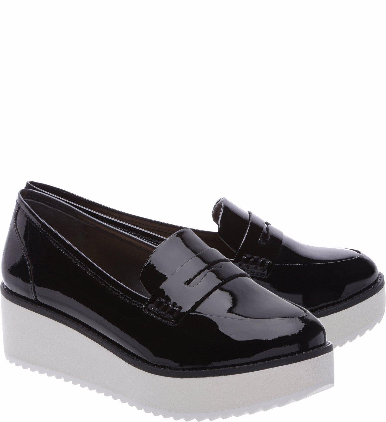 7b8c1eb78 NZSALE | Schutz Bevida Black Box Leather Flatform Platform Loafer Oxford