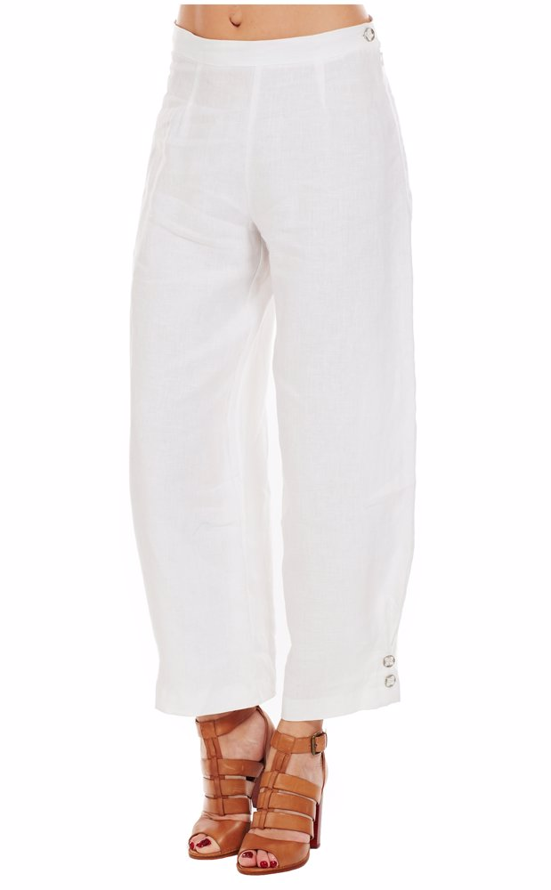 7d49997fae1 Preview with Zoom. Eva Tralala. Linen Trousers White