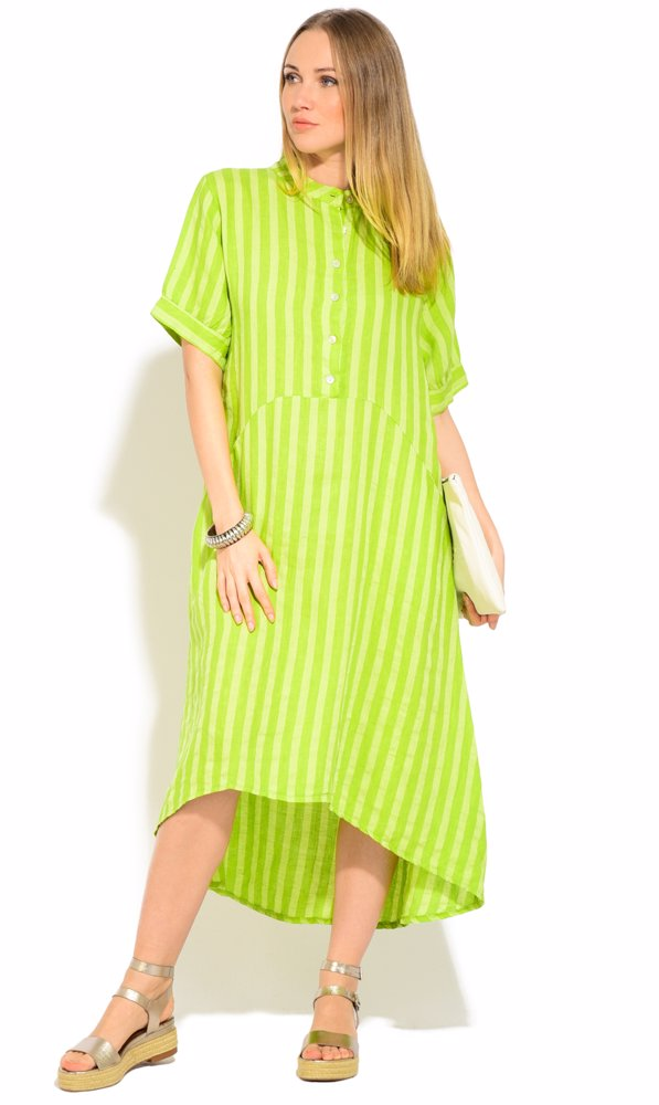 www.ozsale.com.au — Couleur Lin Linen Iris Dress Green