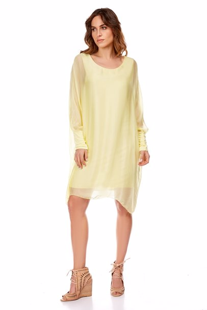 78dcf21c8a26 BuyInvite   Fleur de soie Silk Annabelle Dress Yellow