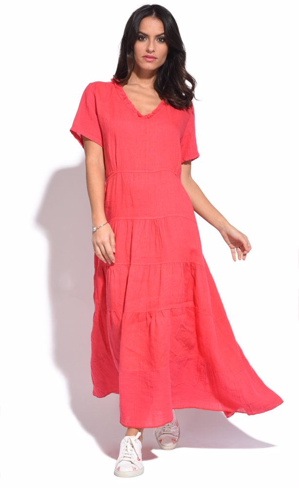 www.ozsale.com.au — Couleur lin Stacy Dress Pink