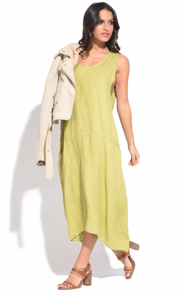 www.nzsale.co.nz — Couleur lin Nour Dress Green