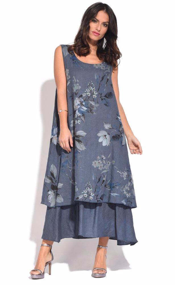 NZSALE | Couleur lin Amber Dress Blue