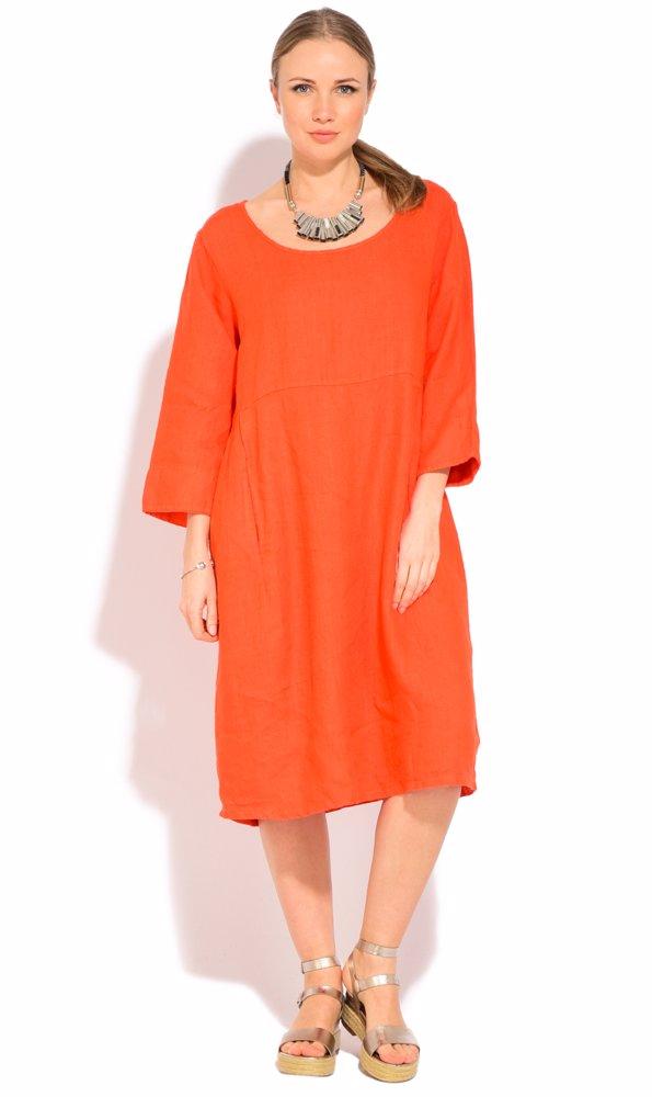 Linen Myrtille Dress Orange