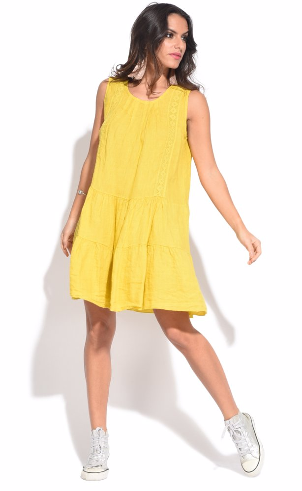 www.ozsale.com.au — Couleur lin Raquel Dress Yellow