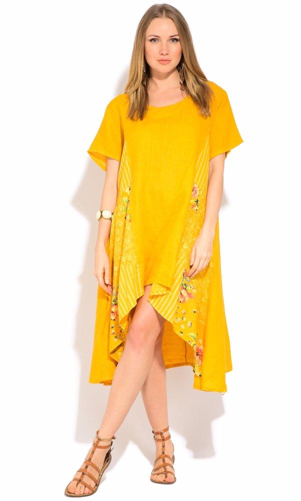 Linen Chantal Dress Yellow
