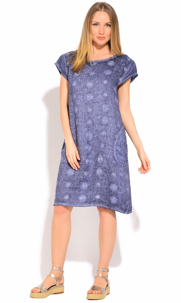 www.nzsale.co.nz — Couleur Lin Linen Pamela Dress Blue