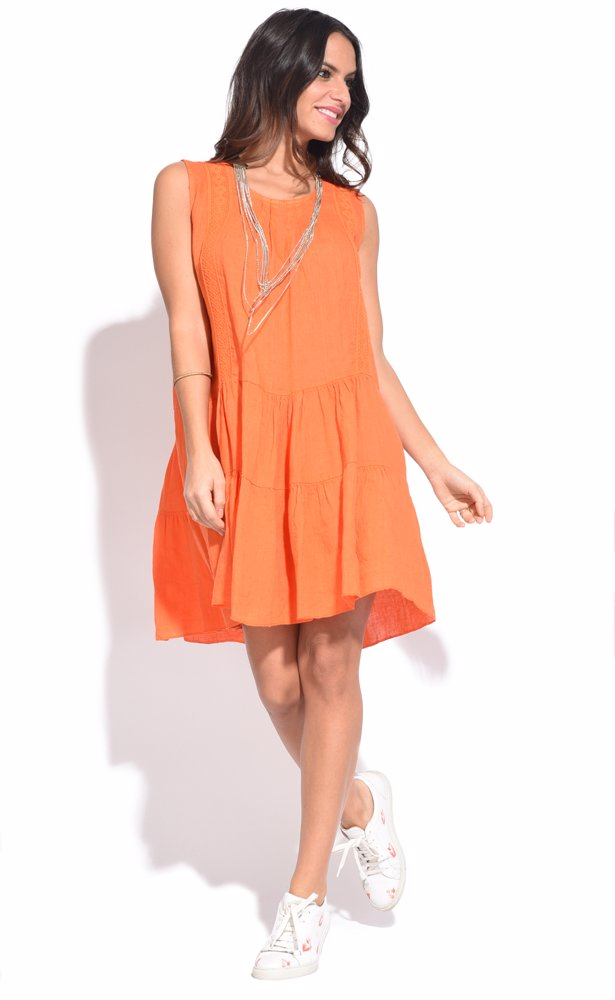 www.ozsale.com.au — Couleur lin Raquel Dress Orange