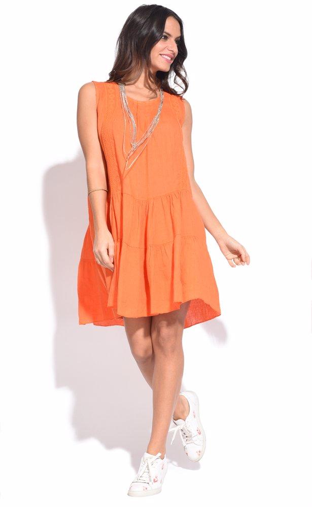 www.ozsale.com.au — Couleur lin Raquel Dress Orange