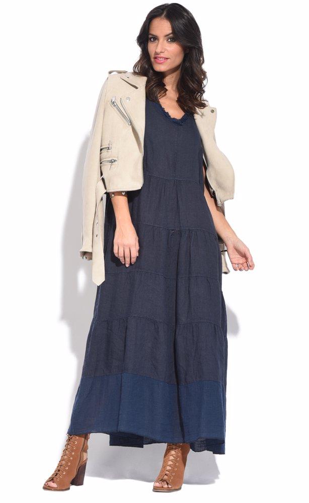 www.nzsale.co.nz — Couleur lin Stacy Dress Blue