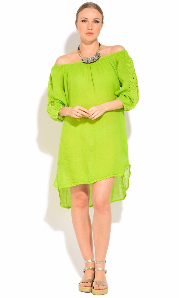 www.ozsale.com.au — Couleur Lin Linen Lavinia Dress Green