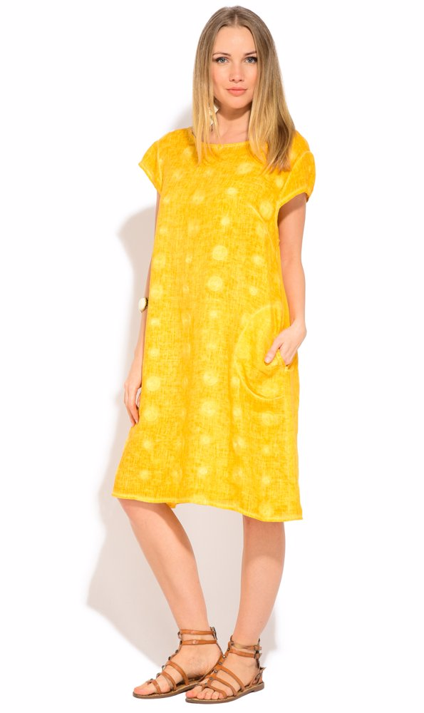 www.nzsale.co.nz — Couleur Lin Linen Pamela Dress Yellow