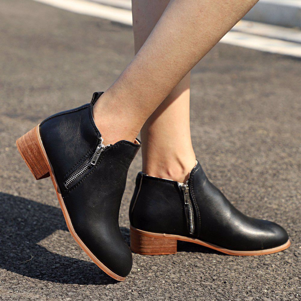 944c21714ac BuyInvite | Fashion Boots & Booties Women Ankle Boots Low Heel ...
