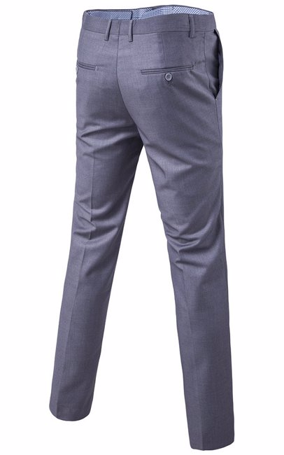 8faa24d9efb Mens Slim Tapered Flat Front Casual Pants