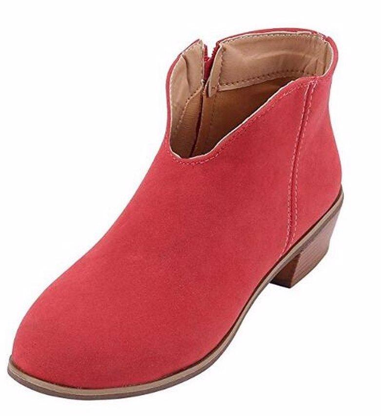 e7dc15d714b57 BuyInvite | Fashion Boots & Booties Womens Vintage Suede Zipper ...
