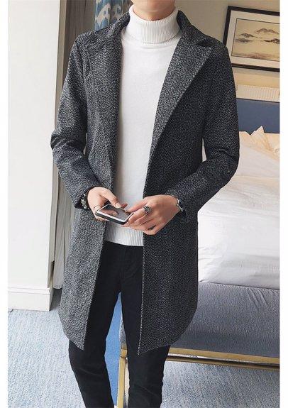 faf7f45f7 BuyInvite | Coats & Jackets Men Lapel Single-Breasted Overcoat ...