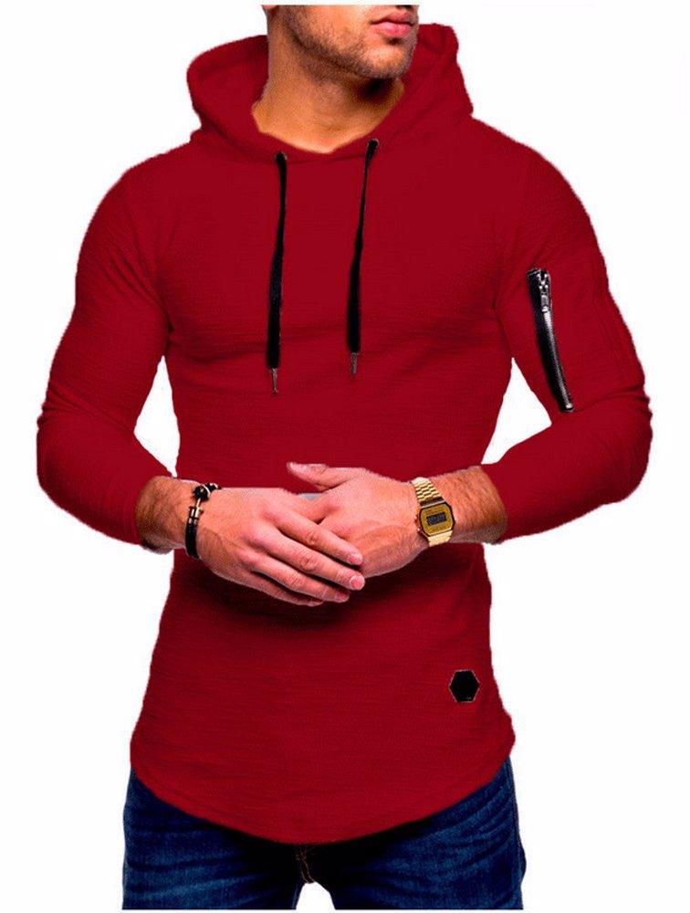 8846596d3 BuyInvite | Menswear Essenatials Mens Crew Neck Hooded Pullover Arm ...