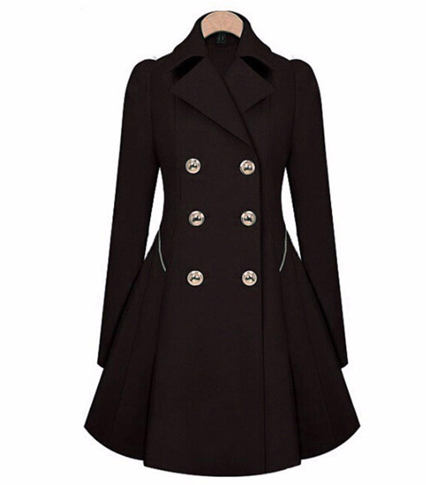 f9839b64f807 MYSALE   Coats & Jackets Black Womens Long Overcoat
