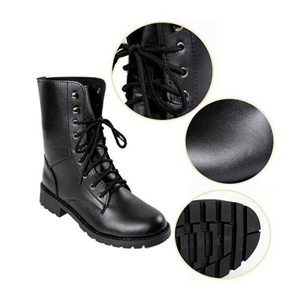 SINGSALE   Fashion Boots & Booties Womens Lace Up Military
