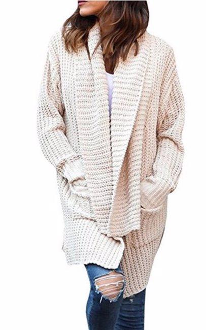 bba5f8c2749c0b BuyInvite | Winter Knits Womens Plus Size Pocket Knit Cardigan for ...