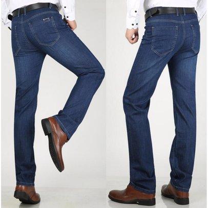 9711c401c1801 BuyInvite | The Denim Edit Mens Thin High Waist Stretch Straight Jeans