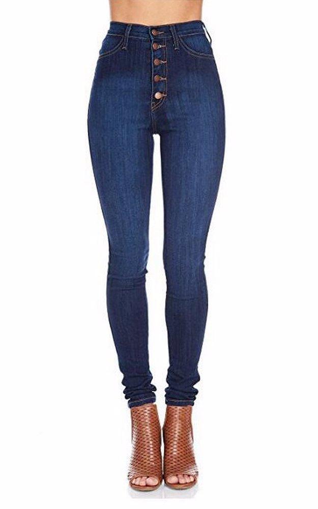 c87ee9f81ca BuyInvite | The Denim Edit Womens Button Stretch High Waist Jeans
