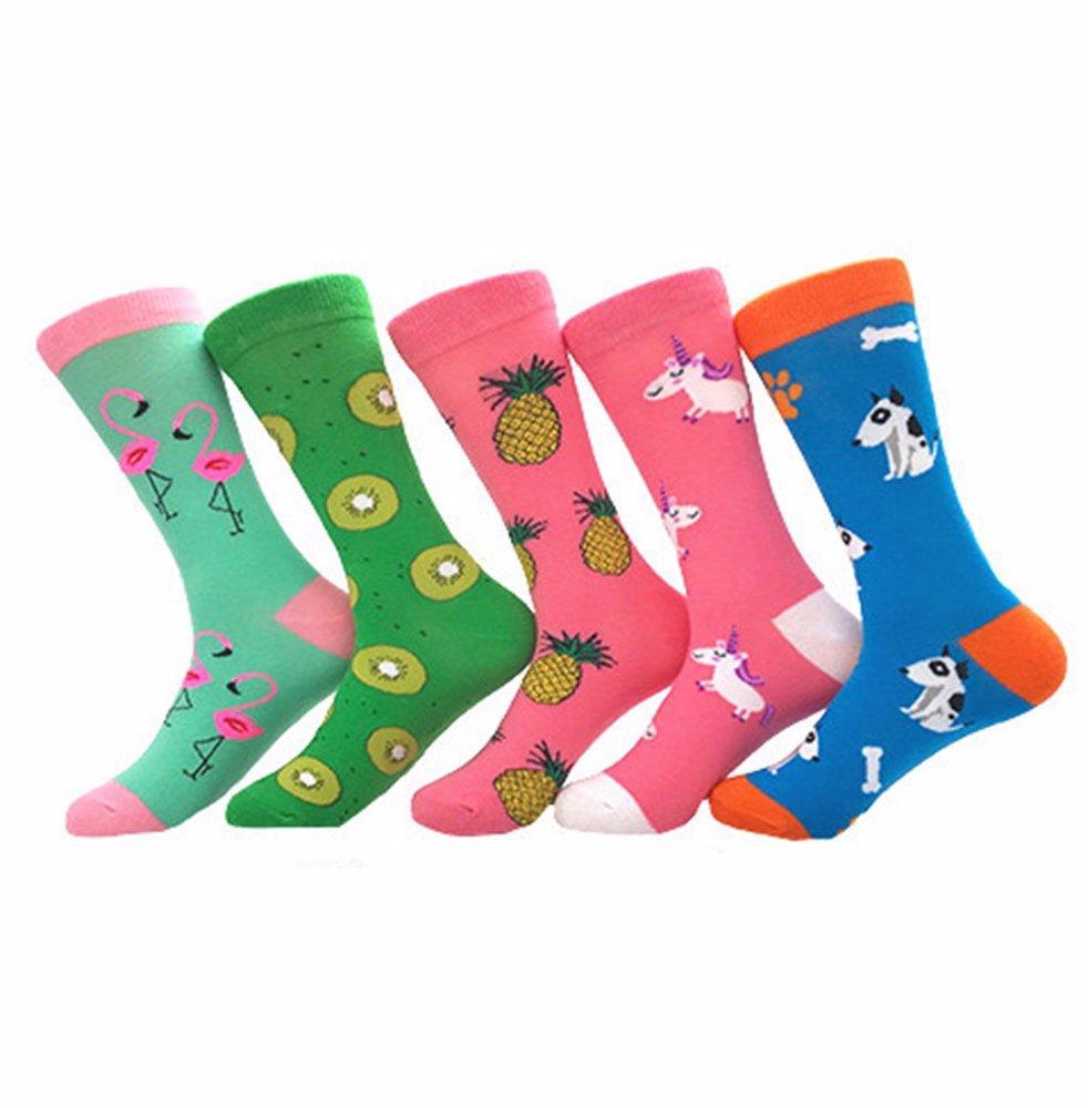 8adde2c1 BuyInvite | Winter Fashion Accessories 5 Pairs Women's Novelty Socks