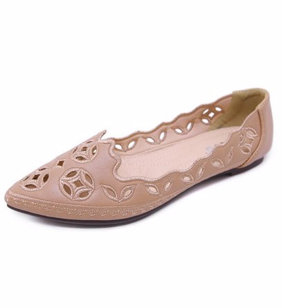 6993514c3 BuyInvite | Shoe Extravaganza Womens Hollow Flat Pointed Loafers