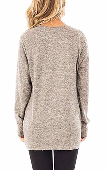6f4162b3eba Womens Long Sleeve Pure Color Casual Shirt