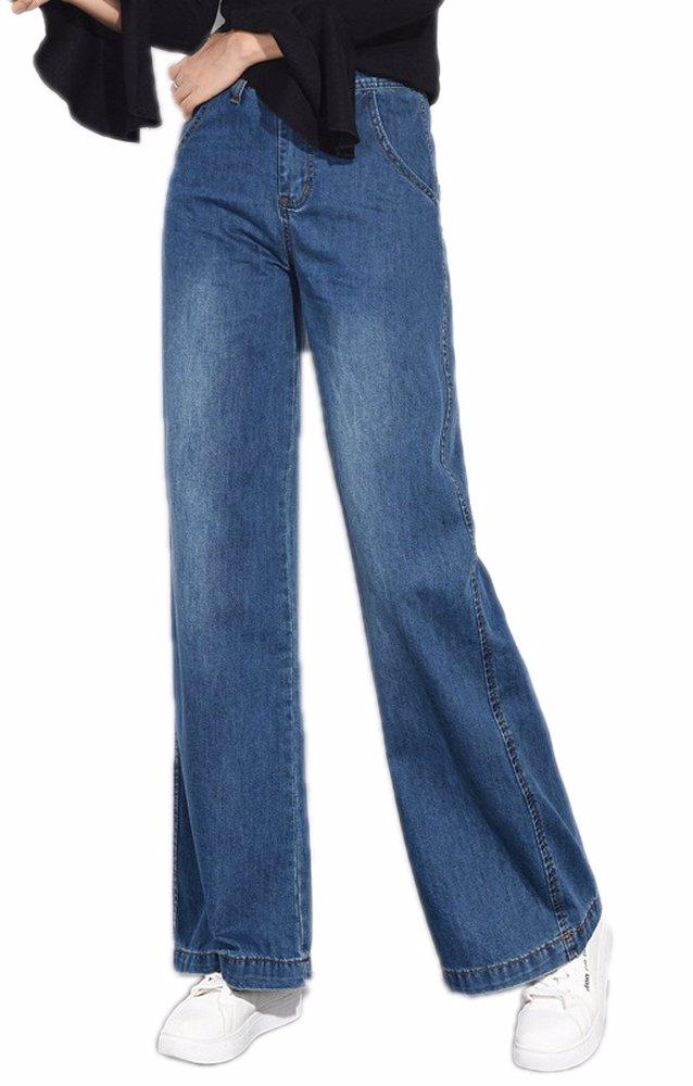 3bce10faf66 BuyInvite | The Denim Edit Womens Vintage High Waist Wide Leg Jeans