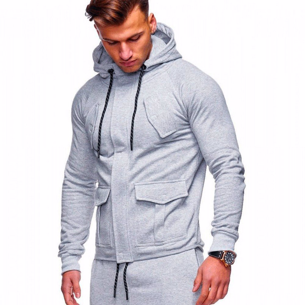 a75dbdef5 BuyInvite | Menswear Essenatials Mens Autumn Winter Hooded Zipper ...