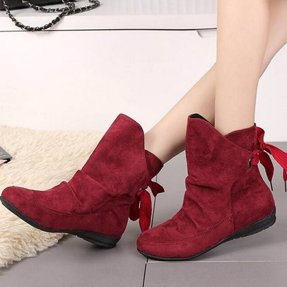 deb4373b4 BuyInvite | Fashion Boots & Booties Buckle Roman Ankle Lace Up Wide Calf  Boots