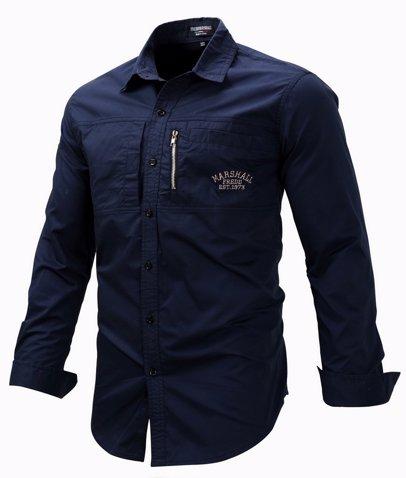 3272563123f2 BuyInvite | Menswear Essenatials Mens Regular Fit Long Sleeve Zipper Shirts