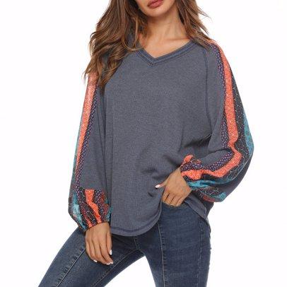 981de08d BuyInvite | Knitwear MEGA Sale Womens V Neck Long Sleeve Printed ...
