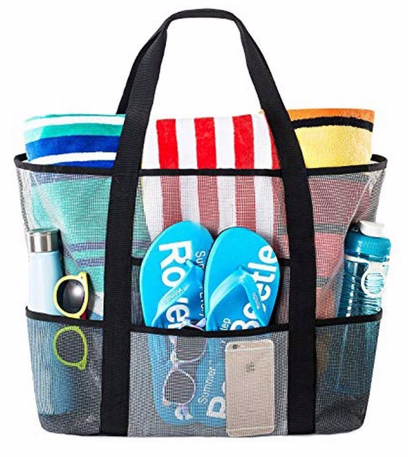 2398b7fe0a Large Capacity Mesh Beach Tote Bag